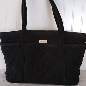 Black Quilted Vera Bradley Pockets Tote Bag